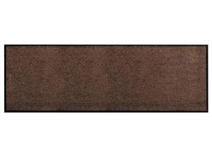 Küchen-Läufer Vorleger CLEAN - Braun - 60x180cm, Rutschfester Schmutzfang-Teppich für die Küche und Flur