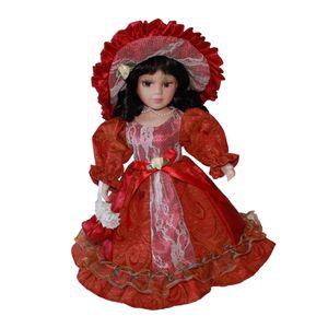 1 Stück 30cm Porzellanpuppe rot Puppen