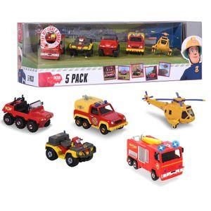 Dickie Toys Feuerwehrmann Sam Spielzeugautos 5er Pack