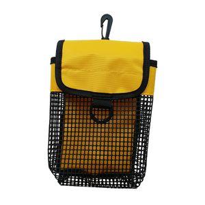 Outdoor Sport Hüfttasche Beintasche Multifunktionstasche mit Karabiner für Wandern Camping Radfahren Angeln Tauchen Farbe Gelb