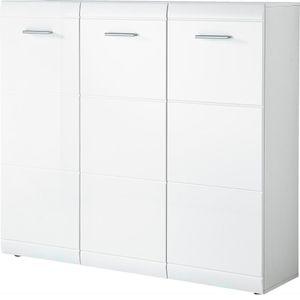 """Germania Schuhschrank """"GW-ADANA"""" in Weiß mit Hochglanz-Fronten, 134 x 120 x 36 cm (BxHxT), 3523-84"""