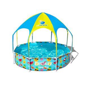 Bestway Steel Pro™ Frame Pool mit Sonnenschutzdach, rund, 244x51cm, 56432