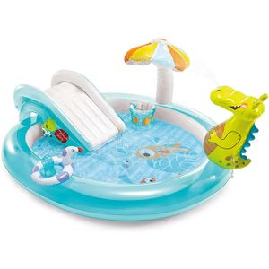 Intex 57165 Gator Play Center Aufblasbares Schwimmbad Kinderspiel