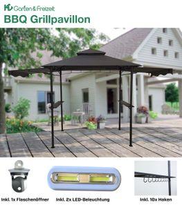 HC Garten & Freizeit BBQ Grillpavillon anthrazit