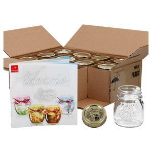 12er Set Einmachglas Original Quattro Stagioni 0,15L Vorratsgläser Glas incl. Bormioli Rezeptheft