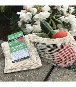 Obst- und Gemüsebeutel aus Baumwolle - 2-Teil-Pack