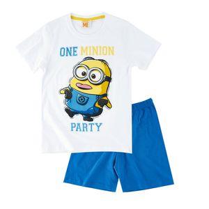 Minions Shorty-Pyjama weiß(116) (128|weiß)