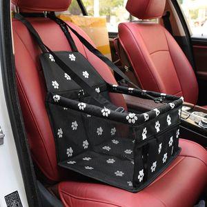 Kleiner und mittlerer Autositz für Haustiere, Reisegeschirrkäfig, Oxford-Faltreisetasche 34*21*25cm (schwarz)