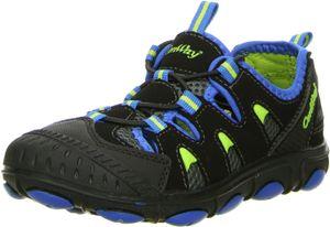 ConWay Kinder Trekkingschuhe Outdoorschuhe schwarz/blau, Größe:32, Farbe:Schwarz