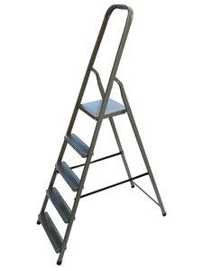Stahl Stehleiter 5 Stufen Klappleiter Mehrzweckleiter Haushaltsleiter