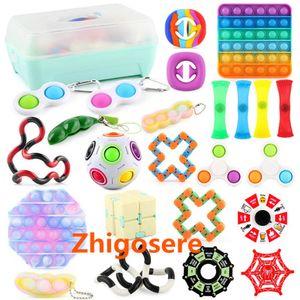 24 Stück / Set Pop It! Fidget Sensory Toy Autismus Stressabbau Spielzeug