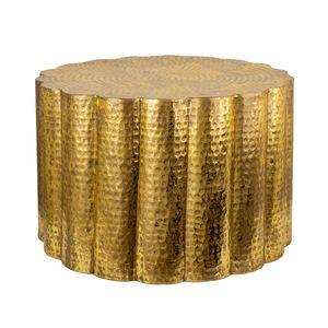 Handgefertigter Couchtisch LIQUID LINE 60cm gold Blattgoldoptik Shabby Chic Wohnzimmertisch Beistelltisch