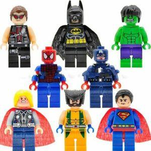 8X Mini Figuren Set Superhelden Spiderman Batman Hulk Marvel Avengers Minifigure