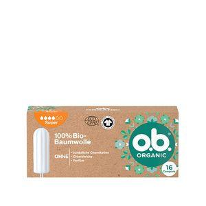 o.b. Organic Super 100 Prozent Bio Baumwolle zuverlässigen & natürlichen Schutz 16 Stück