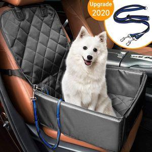 Hunde Autositz für Kleine Mittlere Hunde Rückbank & Vordersitz Hundesitz Wasserdicht Autositzbezug Hundedecke mit Extra Hunde Sicherheitsgurt Sitzbezug Für Haustier Reise