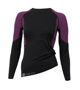 Stark Soul® Skiunterwäsche - Hemd Langarm Funktionswäsche S/M schwarz-pink
