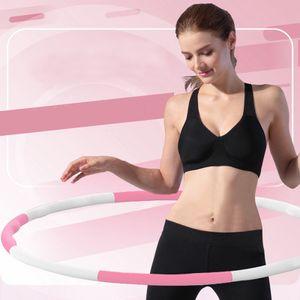 Hula Hoop Fitness Reifen 8-teilig 800g Ø95cm Hüftmassage Gymnastik Rosa