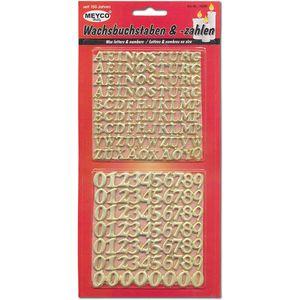 Meyco selbstklebende Wachsbuchstaben und Ziffern in gold 10 bis 14mm
