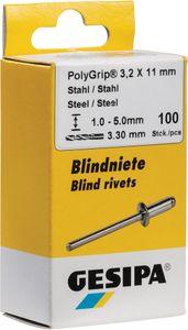 Blindniet PolyGrip® Nietschaft dxl 3,2x8mm Stahl/Stahl 100 St. GESIPA