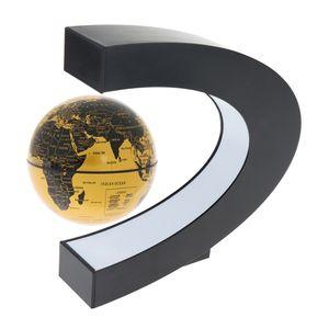C-förmiges Design Magnetschwebebahn LED schwebendes Tellurion Golden wie beschrieben