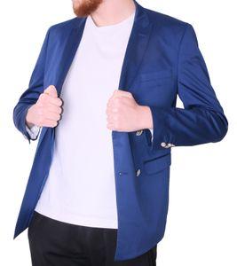 GUIDO MARIA KRETSCHMER Sakko maritim designte Herren Anzug-Jacke in 2-Knopf-Form Blau, Größe:52
