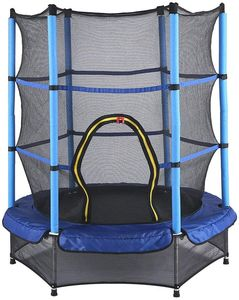Trampolin mit Schutznetz Gartentrampolin Kindertrampolin Garten Spielzeug für Draußen 50KG Max Fitness Trampolin Set Protective Net