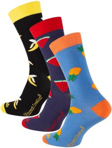 Vincent Creation® Früchte Socken 3 Paar - One Size Bunt 36-40