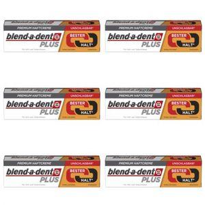 6 x Blend-a-dent Premium Haftcreme Duo Kraft 40g