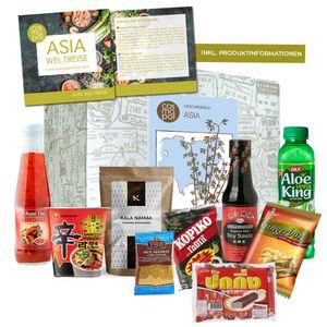 Asia Box kulinarisches Geschenkset | Lebensmittel aus Asien | Gewürze Süßigkeiten tolles Geschenk aus Fernost | kulinarisches Erlebnis | Premium Geschenkbox