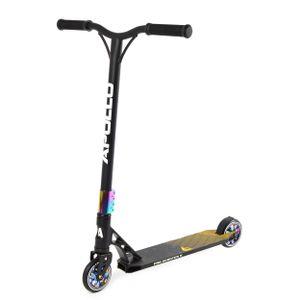 """Apollo Stunt Scooter """"Genesis X Pro"""" High End Kickscooter mit 100mm PolyurethanWheels und ABEC9 - Rainbow"""