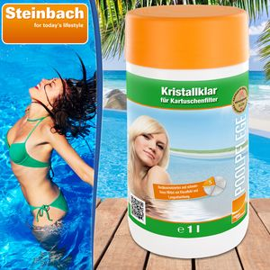 Steinbach Poolchemie Kristallklar Algezid, 1 l Algenverhütung 07537S01TD08
