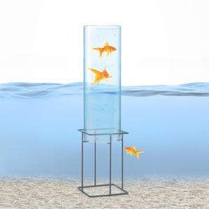 blumfeldt Skydive 60 Fischturm , Fischsäule , Fisch Dome , Goldfisch-Rohr , Fische , Teich-Gestaltung , Teich-Deko , Acrylglas , 87 cm , Wandstärke: 3 mm , Ø 20 cm , witterungsbeständig , UV-beständig , transparent