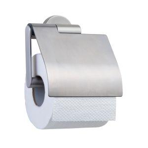 Tiger Boston Toilettenpapierhalter mit Deckel Edelstahl gebürstet, 309130946