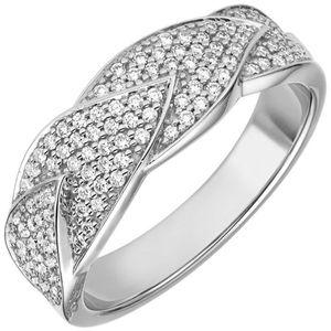 Damen Ring 585 Gold Weißgold 119 Diamanten Brillanten 0,45ct. Diamantring