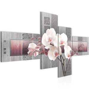 Blumen Orchidee BILD 160x80 cm − FOTOGRAFIE AUF VLIES LEINWANDBILD XXL DEKORATION WANDBILDER MODERN KUNSTDRUCK MEHRTEILIG 204645c