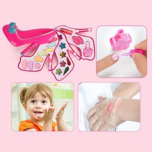 Wasch bare kosmetik-set für mädchen, all-in-one echte kinder-make-up-kit Größe Drei Tier B.