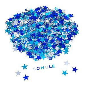 Oblique Unique ABC Alphabet Buchstaben Konfetti Streudeko Tisch Deko für Schuleinführung Geburtstag Feier Party - blau silber türkis