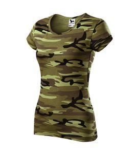 T-Shirt Furtwängler Pure camouflage grün M Damenshirt 150g/m²