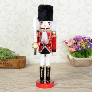 Weihnachten Nussknacker Holz Soldat Figur 30cm Deko Geschenk Farbig Party - Typ C