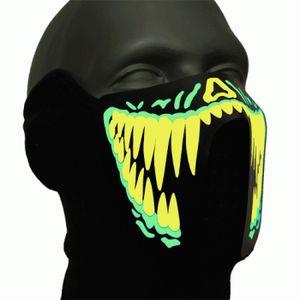 Leuchtende Monstermaske Helloween Maske
