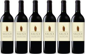 6x Salice Salentino DOP Rosso 2013 – Rosa Del Golfo - Cantine Salento, Puglia – Rotwein