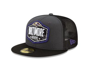 New Era NFL BALTIMORE RAVENS 2021 Official 59FIFTY Fitted Draft Cap, Größe :7 1/2