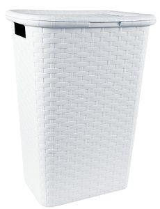 Wäschebox in Flechtoptik - Farbe: weiß