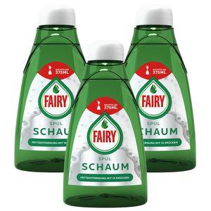 3x Fairy Handspülmittel Geschirrspülmittel Spülschaum Nachfüller 375ml
