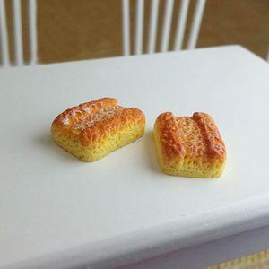 6 ein Verkauf (Anmerkung 6pcs Verpackung) Japan und Südkorea Siwan 01.12 Puppenhaus Puppenhaus Miniatur von Harz Tiger Croissants Ananas Brötchen