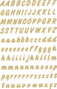 HERMA Buchstaben Sticker A-Z Folie wetterfest gold 2 Blatt à 119 Sticker