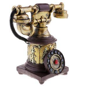 Vintage Antike 50er Jahre Telefone Retro Drehknopf Telefon Modell Schreibtisch Nachbildung Farbe 7111-28