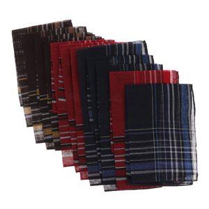 12 Stück Herren Stoff Taschentücher Stofftaschentücher Herrentaschentücher Taschentuch 36 x 35 cm