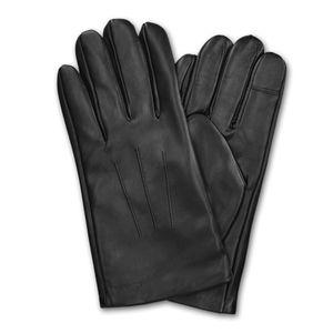 Navaris Touchscreen Handschuhe aus Echtleder für Herren aus Nappa - Lammleder mit Kaschmir Futter