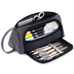 Federmäppchen Federtaschen Teenager  Mäppchen Große Kapazität mit Reißverschluss Schlamperbox Student Make-up Tasche für Schule & Büro